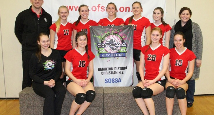 Hamilton District Christian High Girls Volleyball at OFSAA