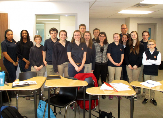 HDCH Venture Students meet with Filomena Tassi
