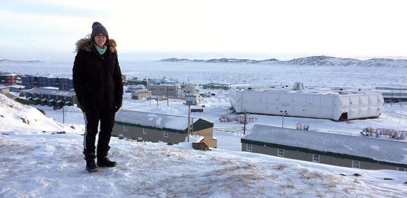 Aliya Kooistra in Nunavut